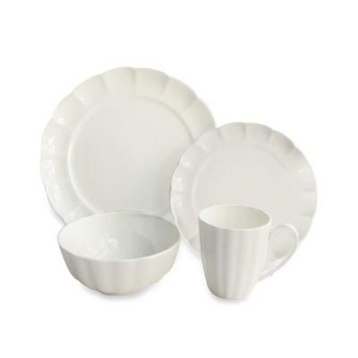 Scallop Bone 16-Piece Dinnerware Set