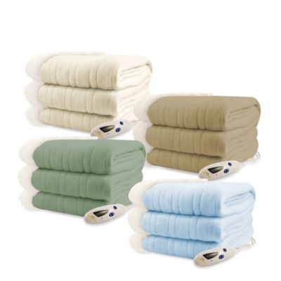 Biddeford Blankets® Comfort Knit Sherpa Electric Heated Throw