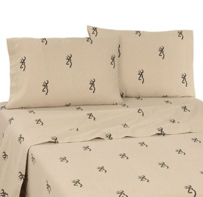 Browning Buckmark Twin Sheet Set in Tan