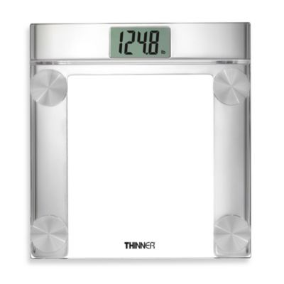 Conair® Thinner® Digital Precision Chrome and Glass Bathroom Scale