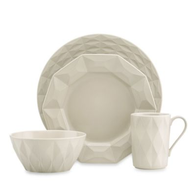 kate spade new york Castle Peak Hazelnut 4-Piece Dinnerware Place Setting