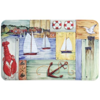 Calm Chef 19.6-Inch x 31.5-Inch Anti-Fatigue Kitchen Mat in Nautical
