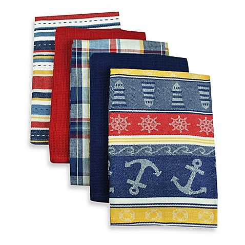 Buy nautical themed towels from bed bath beyond - Beach themed bathroom towel sets ...