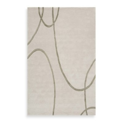 Rugs America Millennium 8-Foot x 11-Foot Rug in White Diamond