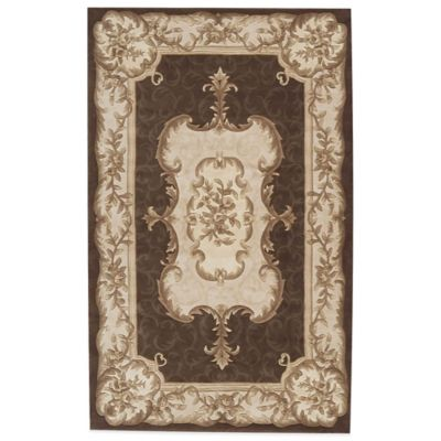 Rugs America Renaissance Rug in Brown