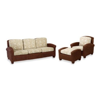 Home Styles Cabana Banana II Chair, Ottoman, and 3-Seat Sofa