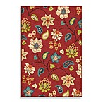 Orian Veranda Collection Garden Chintz Rug Collection in Red
