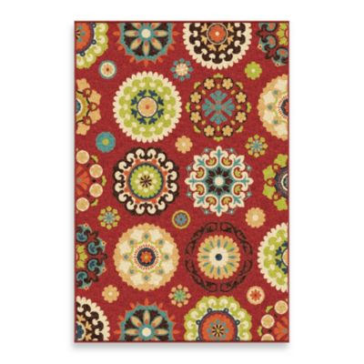 Orian Veranda Collection Hubbard Rug Collection in Red