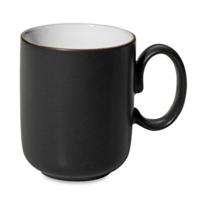 Denby Jet 10.1-Ounce Mug in Black/White