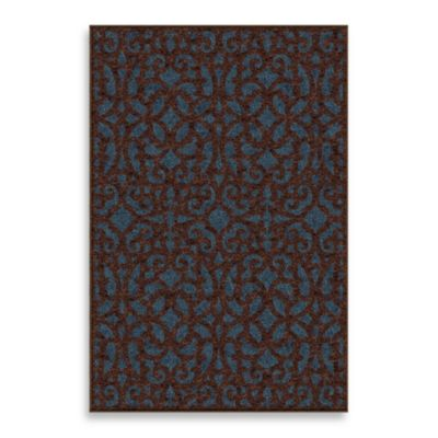 Veranda Collection 7-Foot 8-Inch x 10-Foot 10-Inch Seaborn Rug in Admiral Blue