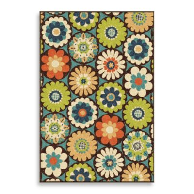 Veranda Collection 5-Foot 2-Inch x 7-Foot 6-Inch Visage Rug in Gemstone