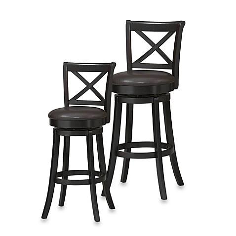 x back wood swivel stool bed bath beyond. Black Bedroom Furniture Sets. Home Design Ideas