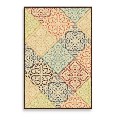 Orian Veranda Collection 5-Foot 2-Inch x 7-Foot 6-Inch Whitten Rug in Multicolor
