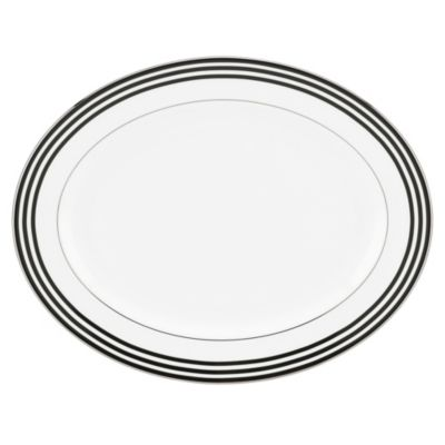 kate spade new york White Parker Place 16-Inch Oval Platter