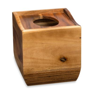 Acacia Vanity Tissue Box Holder