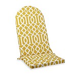 Adirondack Cushion with Ties in Yellow Trellis