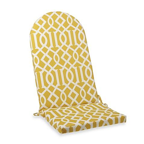 Adirondack Cushion With Ties In Yellow Trellis Bed Bath