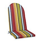 Adirondack Cushion with Ties in Bright Stripe