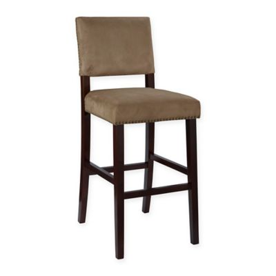 Brown Wood Barstool