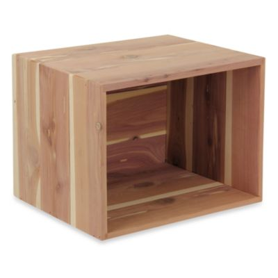 Household Essentials Small Open Cedar Box