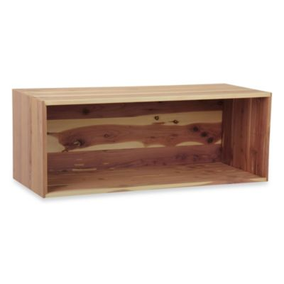 Household Essentials Large Open Cedar Box