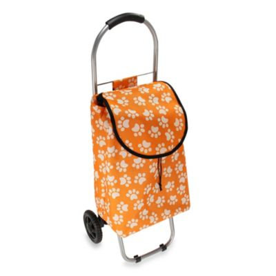 Household Essentials® Small Rolling Shopping Cart in Paw Prints