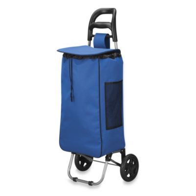 Household Essentials® Medium Rolling Shopping Cart in Navy