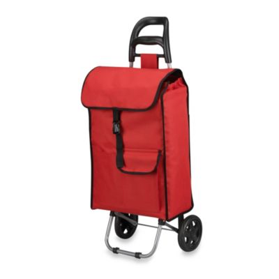 Household Essentials® Oversize Rolling Shopping Cart in Red