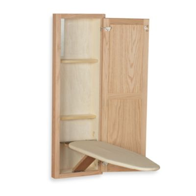 Household Essentials® StowAway® In-Wall Ironing Board in Unfinished Oak