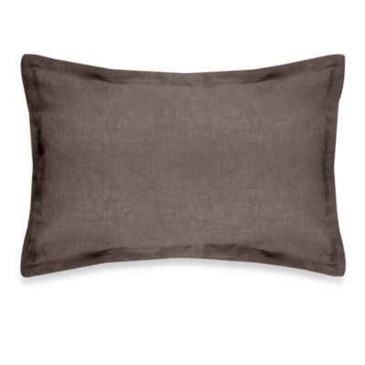 Veratex Gotham Boudoir 100% Linen Throw Pillow in Java