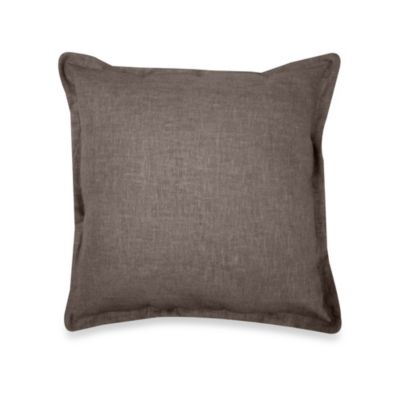 Veratex Gotham 100% Linen Square Toss Pillow in Java