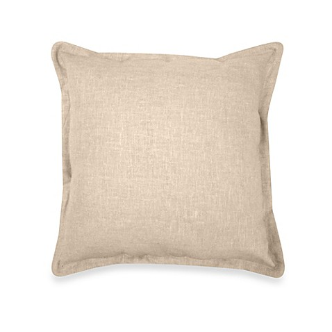 Veratex Gotham Square Throw Pillow In 100 Linen Bed