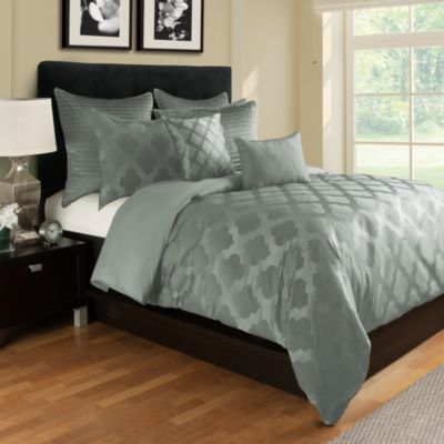 Tangiers Full/Queen Duvet Cover in Seafoam