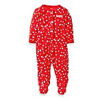 Carter's® Sleep and Play Red Heart Print 1-Piece Footie