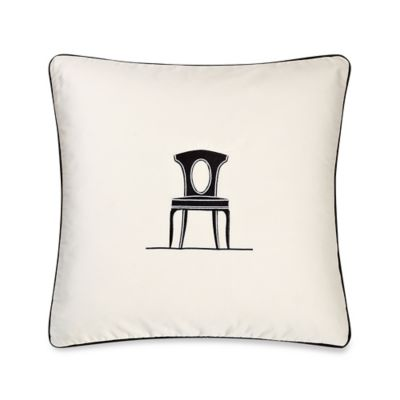 Barbara Barry Dream Musical Chairs Graceful Throw Pillow in Ivory