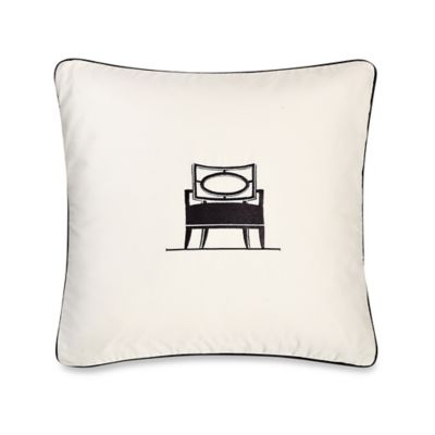 Barbara Barry Dream Musical Chairs Oval Throw Pillow in Ivory