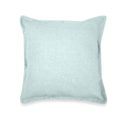 Veratex Gotham 100% Linen Square Toss Pillow in Mineral