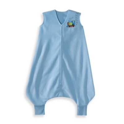 HALO® SleepSack® Medium Early Walker Microfleece in Blue Train