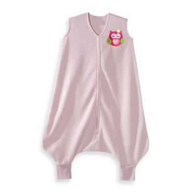 HALO® Sleepsack® Early Walker Microfleece in Pink Owl