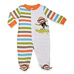 Baby Starters Safari Sock Monkey Sleep 'n Play in White and Stripes
