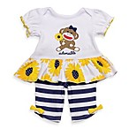 Baby Starters® Sock Monkey Sunflower Capri Set