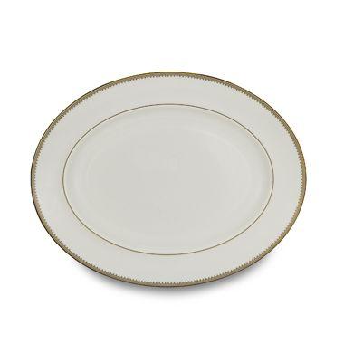 Vera Wang Wedgwood® Golden Grosgrain 13 3/4-Inch Oval Platter