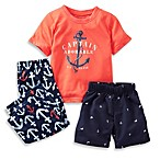 Carter's® Captain Adorable 3-Piece PJs in Orange/Navy