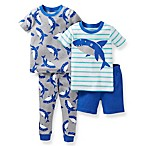 Carter's® Blue Shark 4-Piece Pajama Set