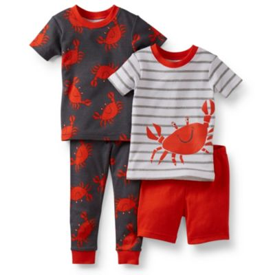Carter's® Red Crabs 4-Piece Pajama Set