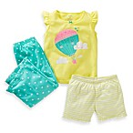 Carter's® Yellow Air Balloon 3-Piece PJs
