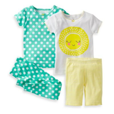 Carter's® Sun, Polka Dots, and Stripes 4-Piece Pajama Set