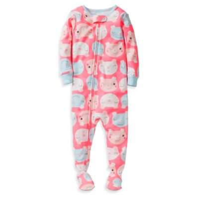 Carter's® Snug Fit Pink Pig Print 1-Piece PJ