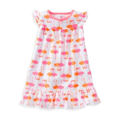 Carter's® Gown PJ in Pink Flamingo