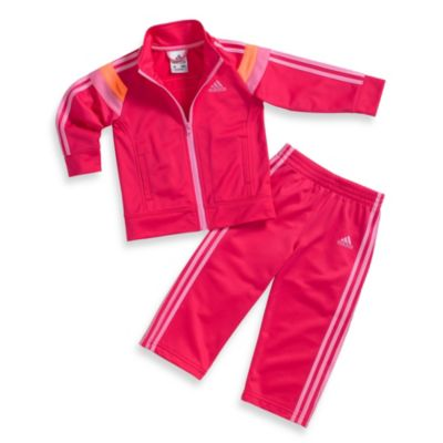Adidas® Anthem Track Set in Bright Pink/Orange